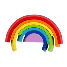 toys for children Wooden Block Rainbow Kids Building Blocks Wooden Toys Baby Early Learning Montessori Educational Kid's Gifts