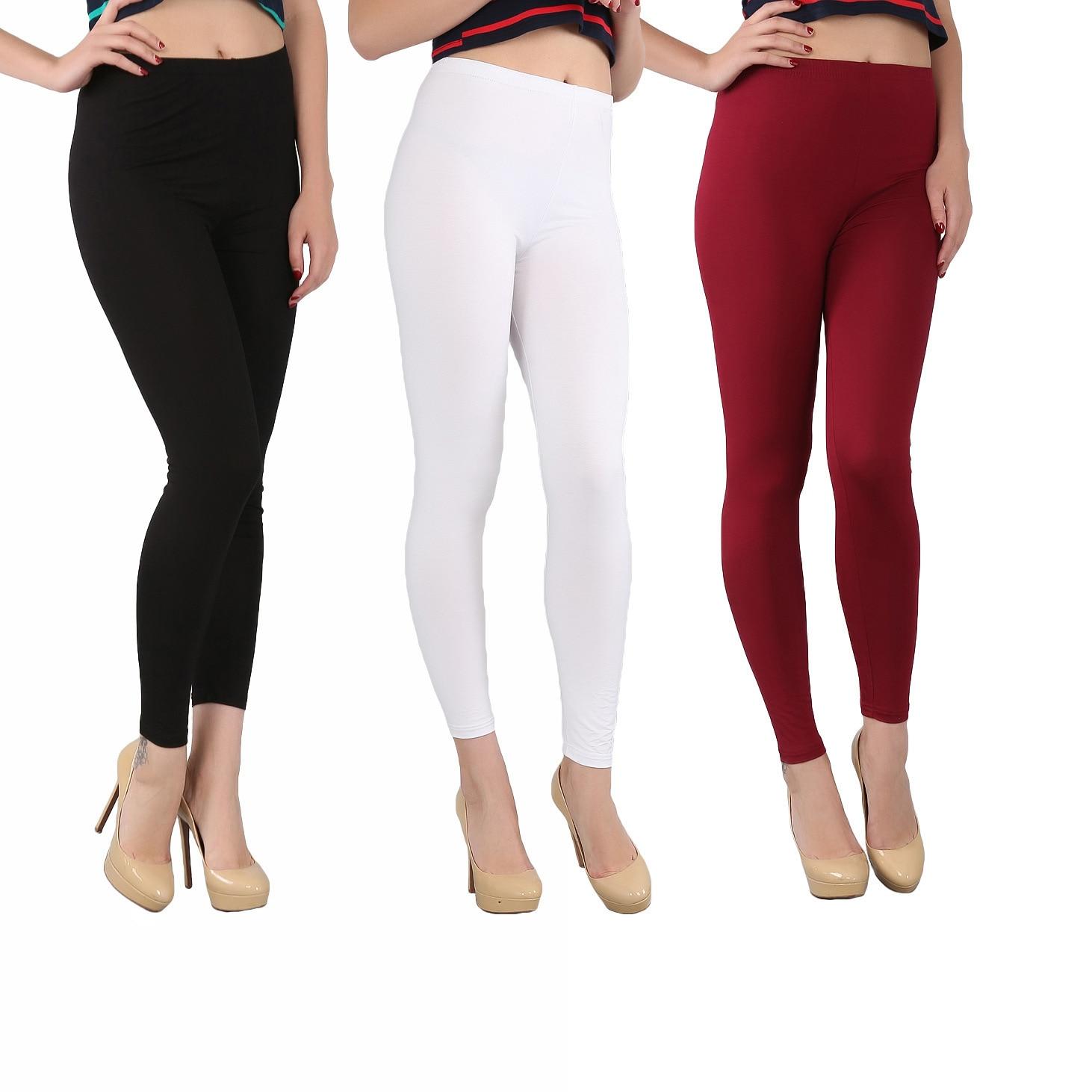 Slim Leggings Bamboo-Fiber 7XL High-Elastic Autumn Women Plus-Size Summer Fashion And