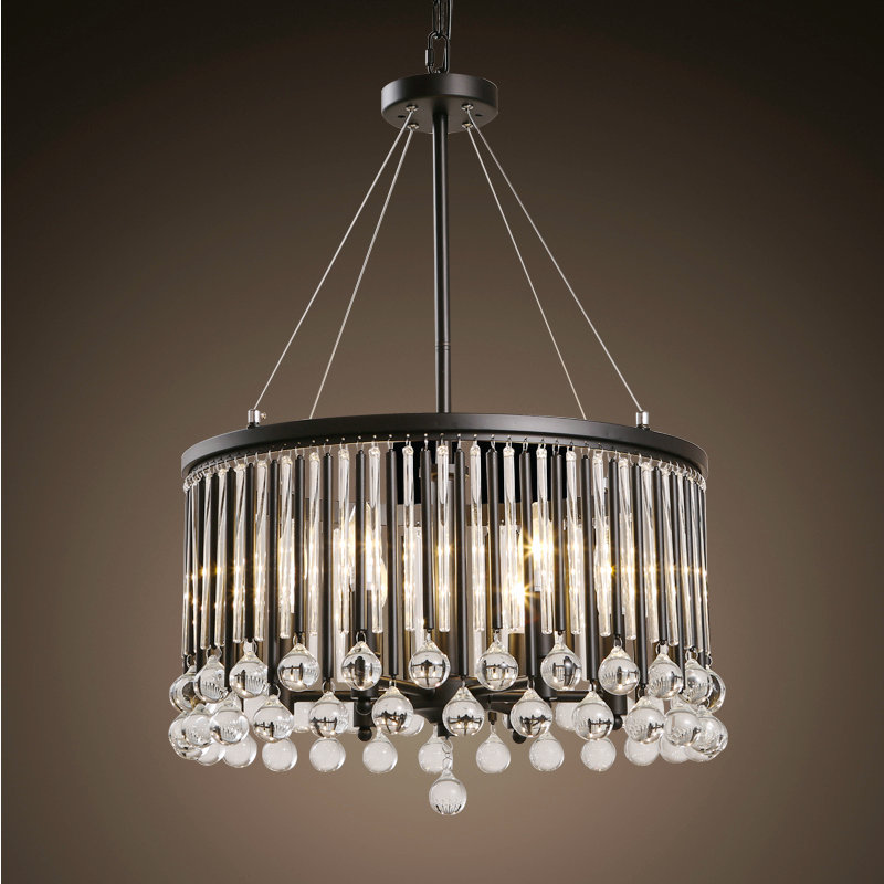 black Vintage crystal dinning room pendant lamp with LED bulbs bed room light home decoration lighting free shipping гриф mb barbell 2000 мм d 50 мм замок стопорный