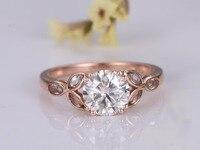 MYRAY 6 5mm Round Moissanite 14k White Yellow Rose Gold Marquise Topaz Engagement Ring Wedding Anniversary