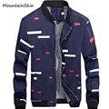Mountainskin nuevos hombres abrigos de primavera moda masculina chaqueta ocasional caliente de espesor en el interior de lana térmica parkas brand clothing la134