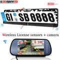 Koorinwoo Ultime Parktronic Sensore di Parcheggio Dell'automobile 7 LCD Car Monitor Display Digitale VCD/GPS/TV Input Car Rear telecamera di Backup