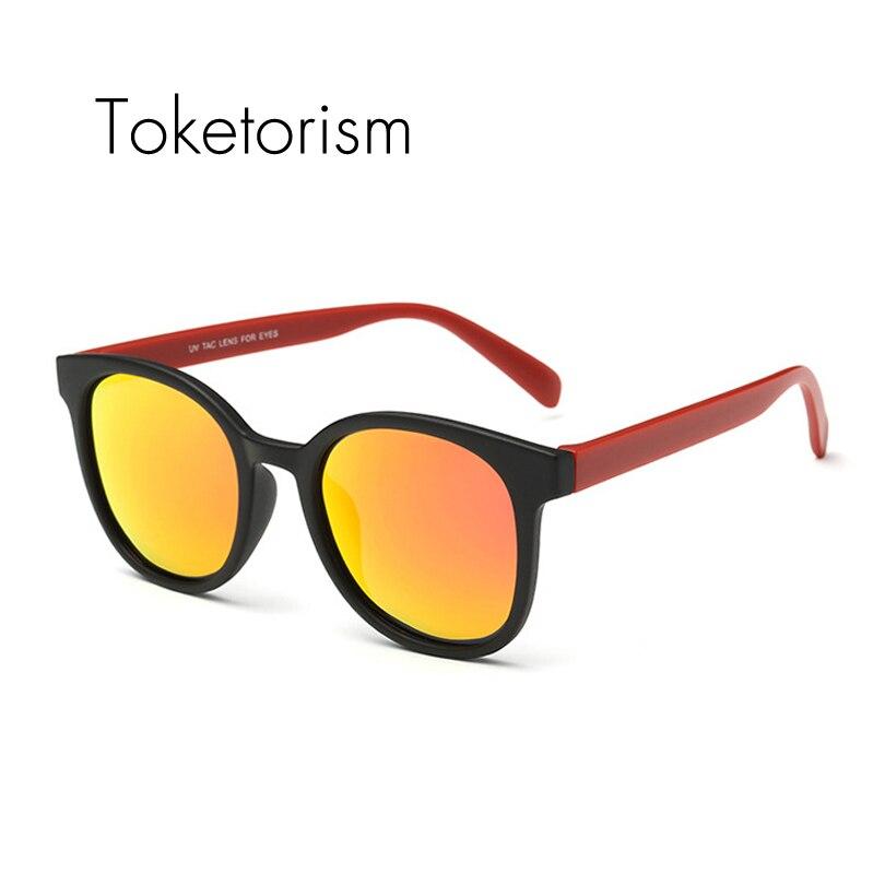 Toketorism Minimalista grife TR90 ultraleve óculos polarizados óculos de sol  espelho redondo óculos de sol para unisex 2138 6734500446