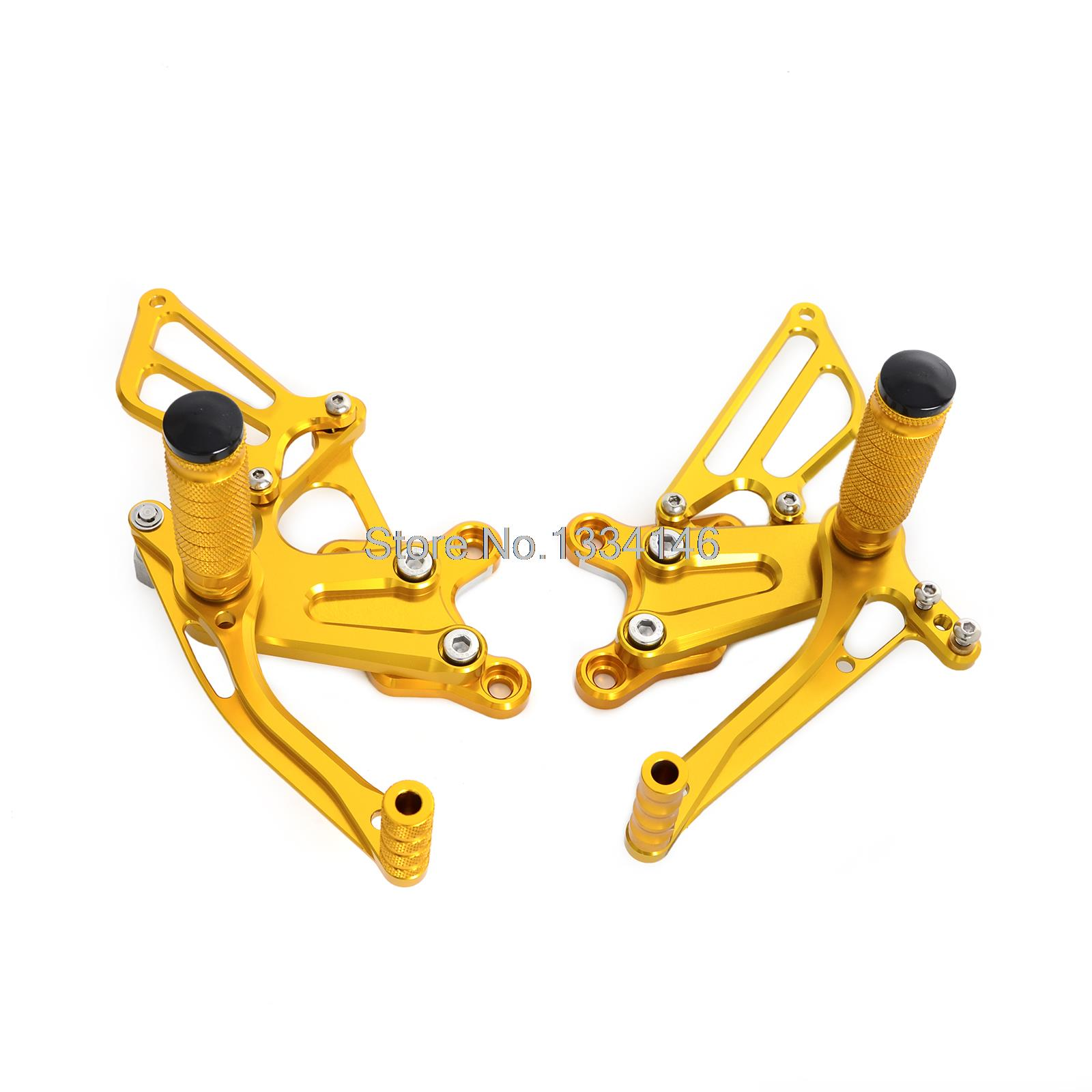 Racing CNC Foot Control Adjustable Rearset Foot Peg Rear Sets For Honda CBR954 CBR954RR 2002 2003 Gold l r pillion foot peg for honda c70 ct90 cb125 cb200 cg110 cg125 jx110 jx125 xl250 xl350