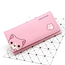 BOTUSI CartonCat New Arrival Wallet Women Fashion Wallets Zipper Purse Coin Purse Card Holder Leather Women Purse Carteira Femme new coin wallet candy colors leather carteira couro cards holder for girls women wallet purse plaid embossing zipper wallet