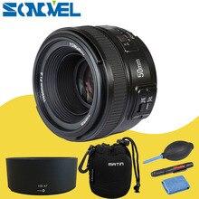 Камера объектив YONGNUO YN50mm F1.8 MF YN 50 мм f/1.8 AF объектив YN50 диафрагма автофокусом для Nikon D7500 D7200 D5600 D5200 D750 D500 D5