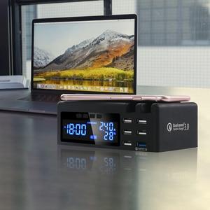 Image 5 - SCOMAS Qi אלחוטי טלפון מטען מהיר טעינה 48w 6 יציאות מתאם רב מהיר USB תשלום dock תחנה עבור iphone tablet QC 3.0