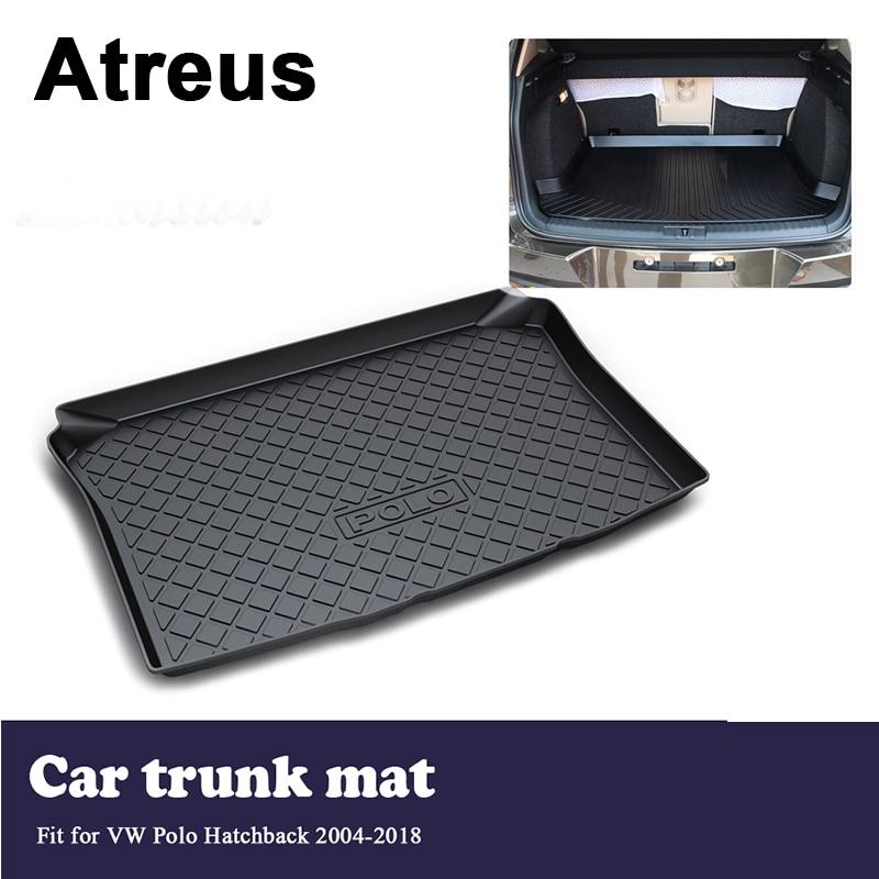 Atreus Car Trunk Cargo Floor Liner Tray Mat Blanket For VW Polo Hatchback 2004 2005 2006 2007 2008 2009 2010 2011-2017 2018 недорго, оригинальная цена