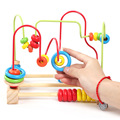 Early Learning Toy Children Kids Baby Colorful Wooden Beech Puzzle Around Beads Educational Toy Kids Gift wood toy wooden toy