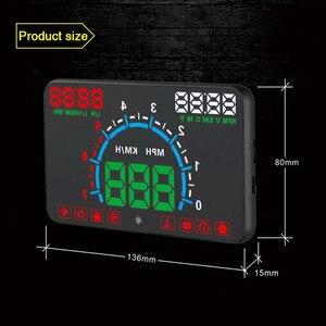 Image 3 - WiiYii HUD E350 car Head Up display Auto speed alarm OBD2 Windscreen Projector car electronics Data Diagnostic Tool