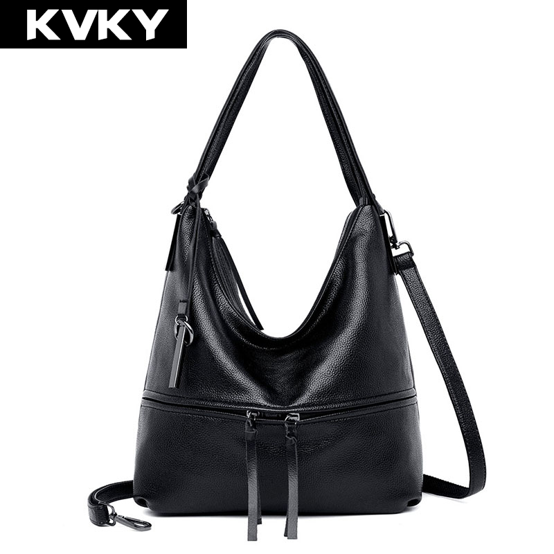 KVKY New Women Handbags Hobos Soft PU Leather Women Shoulder Bags High Quality Female Messenger Bag Designer Lady CrossBody Bags women handbags new fashion pu leather party clutch bags soft fold over phone purse lady shoulder bag superfine messenger bag