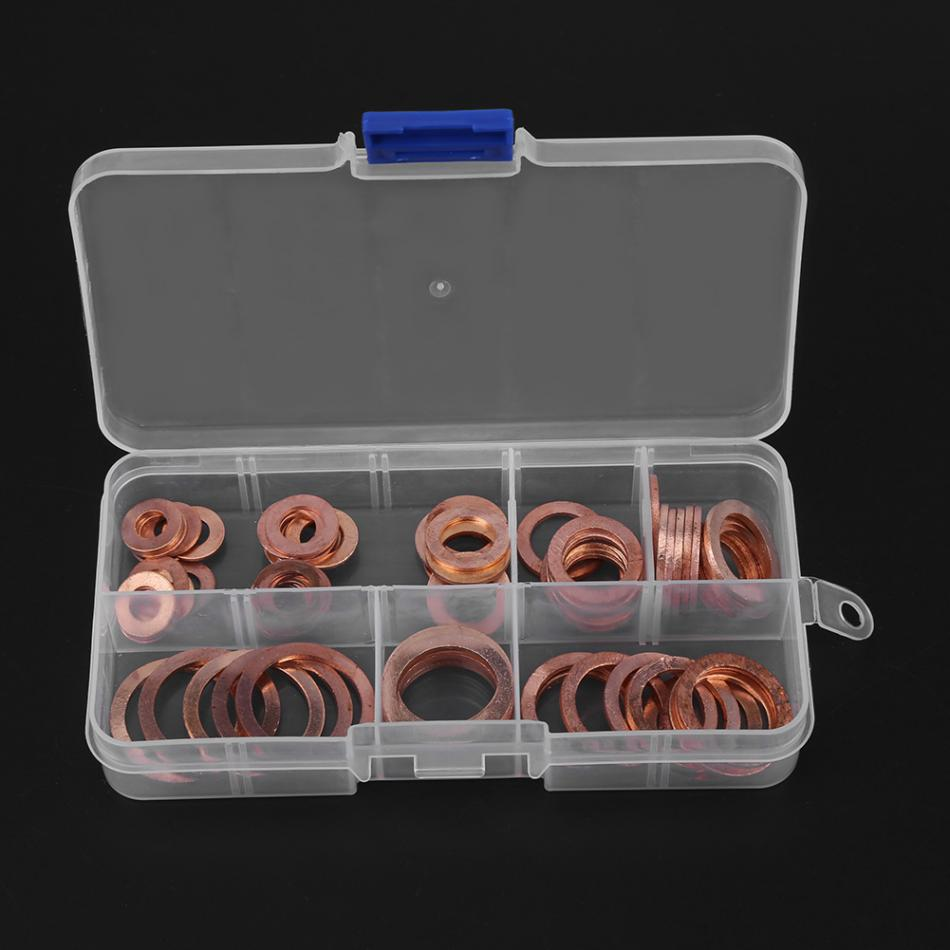 Back To Search Resultshome Improvement Fasteners & Hooks Imported From Abroad 80pcs/set M6-m20 Copper Washers Flat Ring Sump Plug Washer Kit Fastener Hardware With Box Elegant Shape