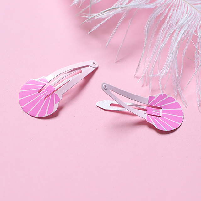 NEW Kids Hair Accessories Headwear 2-6Pcs/Set Flamingo Pineapple Fruit Hairpins Cartoon Mermaid Horse Rainbow Hair Clip for Girl 5