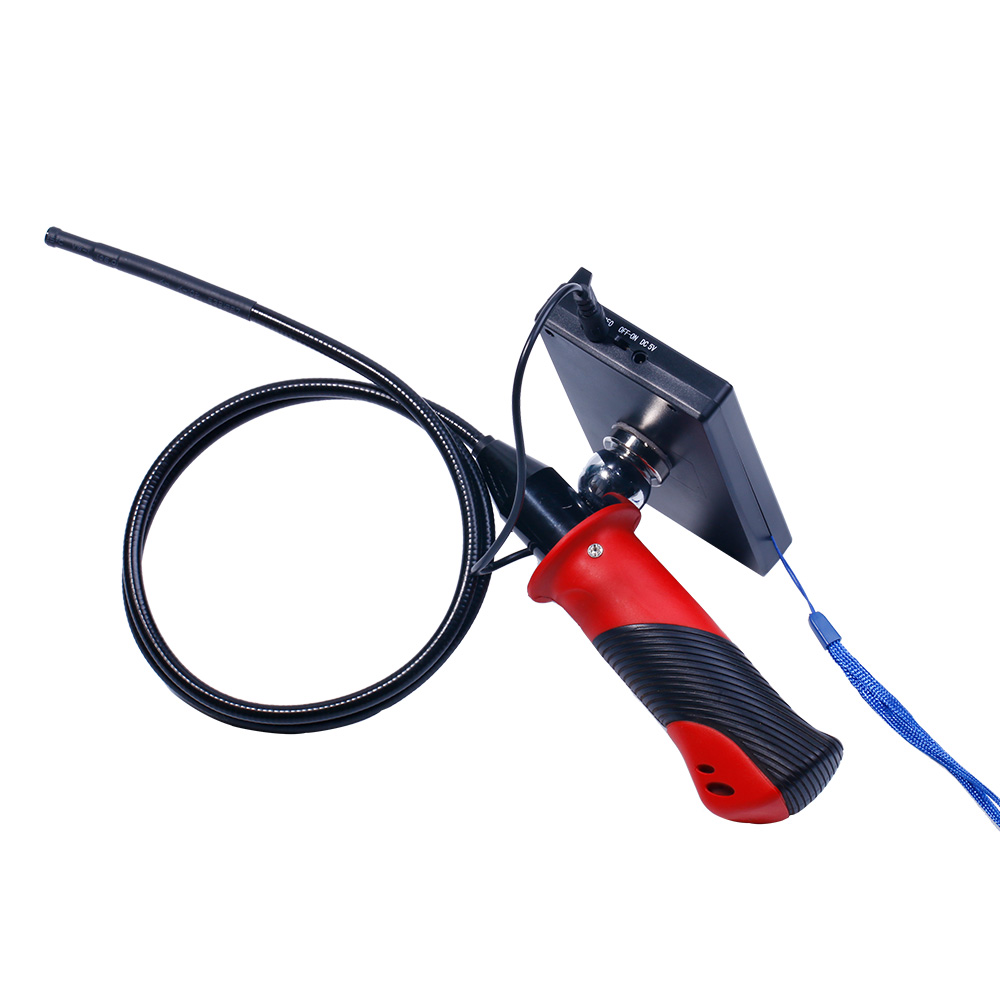 4.3 Inch Portable AV Endoscope Camera Build-in Battery CMOS Borescope 5.5MM/8MM Optional With Tool Box As Gift 99e portable lcd video borescope with recording cmos endoscope cctv camera inspection tool av endoscope camera