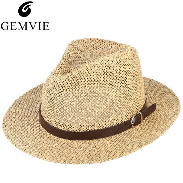 5e3ffa809e4 Unisex Summer Hats For Women Men Breathable Mesh Straw Hat Vintage Jazz  Church Cap Beach Sun Caps Panama