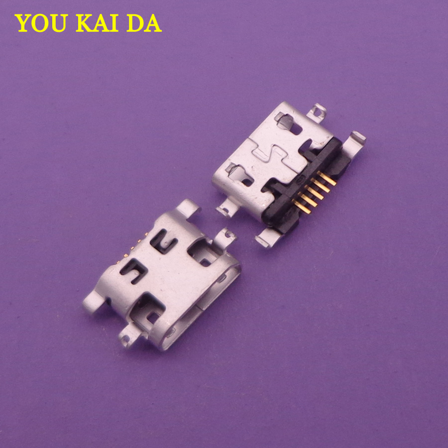 100pcs For <font><b>Alcatel</b></font> <font><b>6035R</b></font> Idol S 4033 4033D POP C3 C7 7041D micro usb charge charging jack connector plug dock socket port image