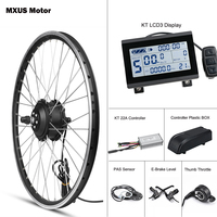 MXUS E Bike Kit Rear Wheel Motor Front 36V 48V 350W Electric Bike Conversion Kit Hub Brushless Controller With Display KT LCD3