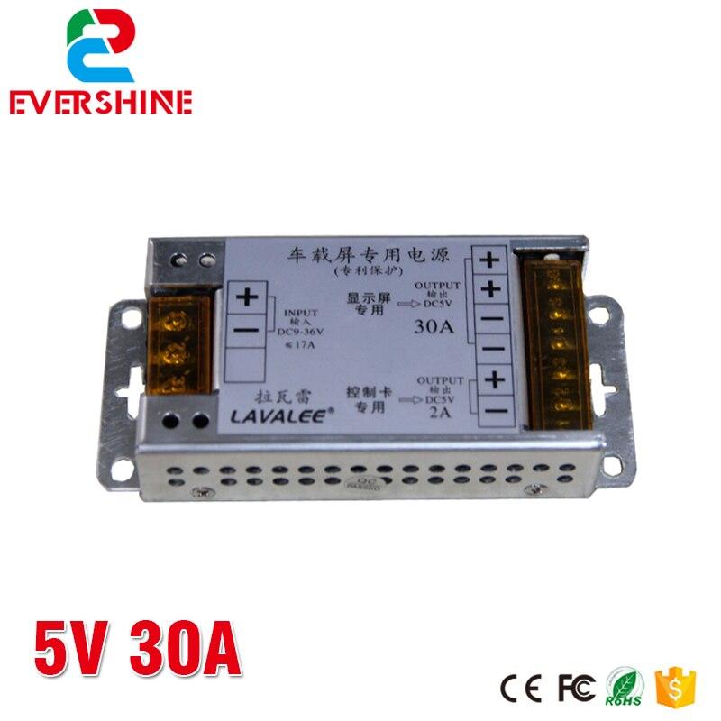 LAVALEE 5 V 20A 30A 40A 60A 150 W 100 W 200 W 300 W Veículo Display LED Car Power fornecer