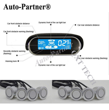Car Parking Sensors 8 Weatherproof Rear Front View Reverse Backup Radar Kit System LCD Display Monitor for skoda for BMW