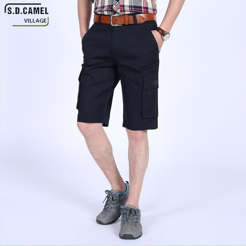 S.D.CAMEL VILLAGE Summer Mens clothing 2018 Bermuda cargo shorts sea short big size men cotton military shorts masculino