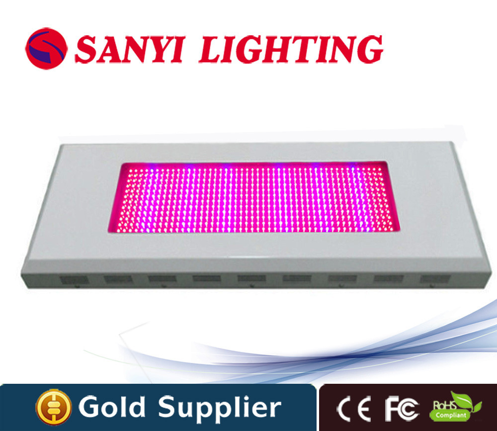 High power 600w 576 leds led square plant grow light red blue greenhouse grow led light for indoor plants with free hang kit