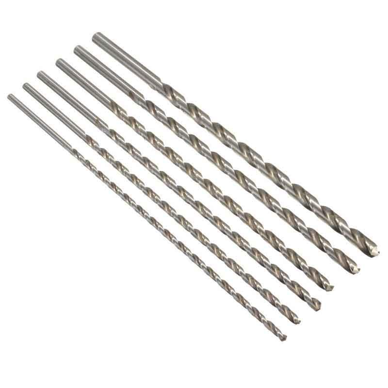 HSS Straight Shank Twist Drill Bit 6-12mm Diameter Extra Long HSS Straigth Shank Auger Twist Drill Bit Set 350mm For Aluminum