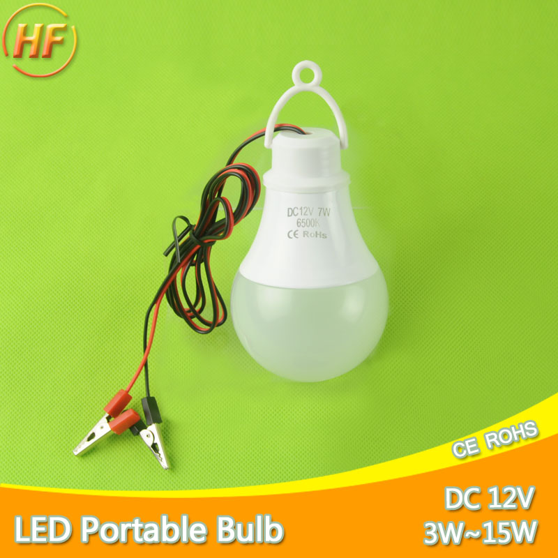 Ultra Bright Portable Hang Light Lamp With Clip DC 12V LED Bulb 3W 5W 7W 9W 12W 15W Outdoor Party Camp Night Fishing Emergency high power 12v led bulb smd 5730 portable led lamp outdoor camp tent night fishing hanging light lamparas 3w 5w 7w 9w 12w