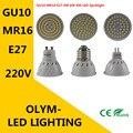 Lamp27 E27 MR16 GU10 LED LANTERNA 220 V 230 V CONDUZIU a Lâmpada Lâmpadas 4 W 6 W 8 W 48LED 60LED Spot 80LED 2835 Lâmpada Planta luz