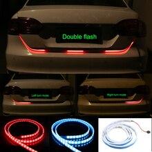OKEEN red blue led trunk strip Flowing Rear Trunk  Light red Turn Signal Strip Dynamic Streamer Reverse LED Warning Flash Lights