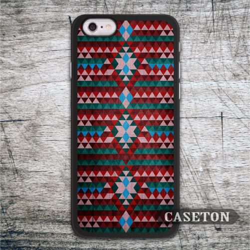 Red Turkish Tribal Aztec Case For iPhone 7 6 6s Plus 5 5s SE 5c and For iPod 5 High Quality Lovely Ultra Cover Wholesale Retail