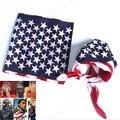 New Fashion Unisex US Flag Scarves Bandanas Hip-hop Dance Headband Travel Head Scarf