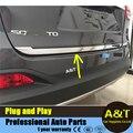 Chrome Rear Trunk Lid tail-hood Cover trim For 2015 KIA Sorento high quality chrome stickers trim car styling 1PC Car Accessorie