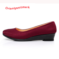Women Wedges Shoes Women Shoes For Work Cloth Wedges Sweet Loafers Slip On Women S Pregnant