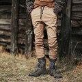 2016 New Mens Hip Hop Jogger Pants Men Casual Solid Khaki Urban Clothing Drawstring Trousers For Men