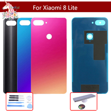 For Xiaomi Mi 8 Lite mi8 lite Battery Back Cover Rear Door Housing Side Key Replacement Repair Spare Parts Replacement for xiaomi redmi 6 battery back cover metal rear door housing side key for redmi6 replacement repair spare