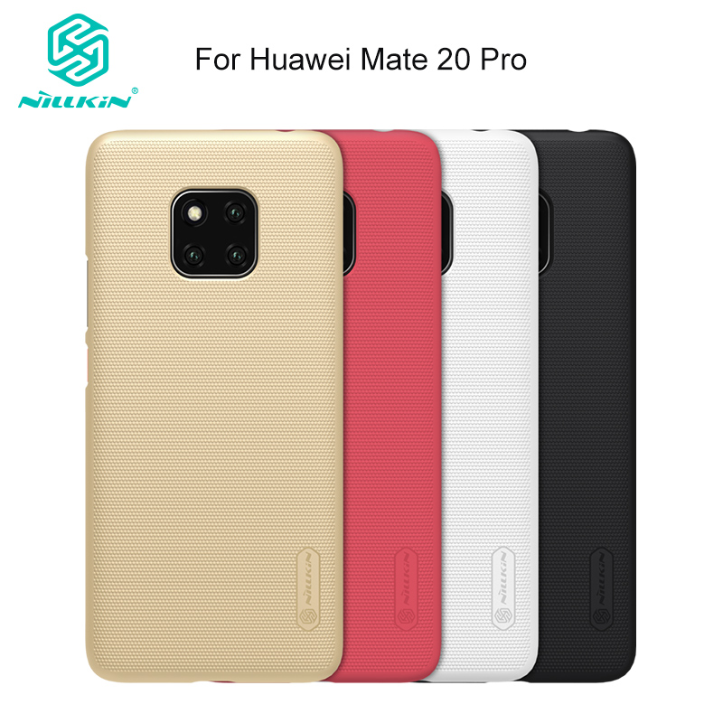 "For Huawei Mate 20 Pro Nillkin Frosted PC Hard Back Cover Skin 6.39"" for Mate20 Pro Case Proetective Shield Gift Phone Holder"