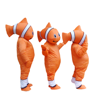 Nemo Clown Fish Mascot Adult Costume Hot Cartoon Character From Find Nemo Anime Cosplay Costumes Carnival Fancy Dress for School