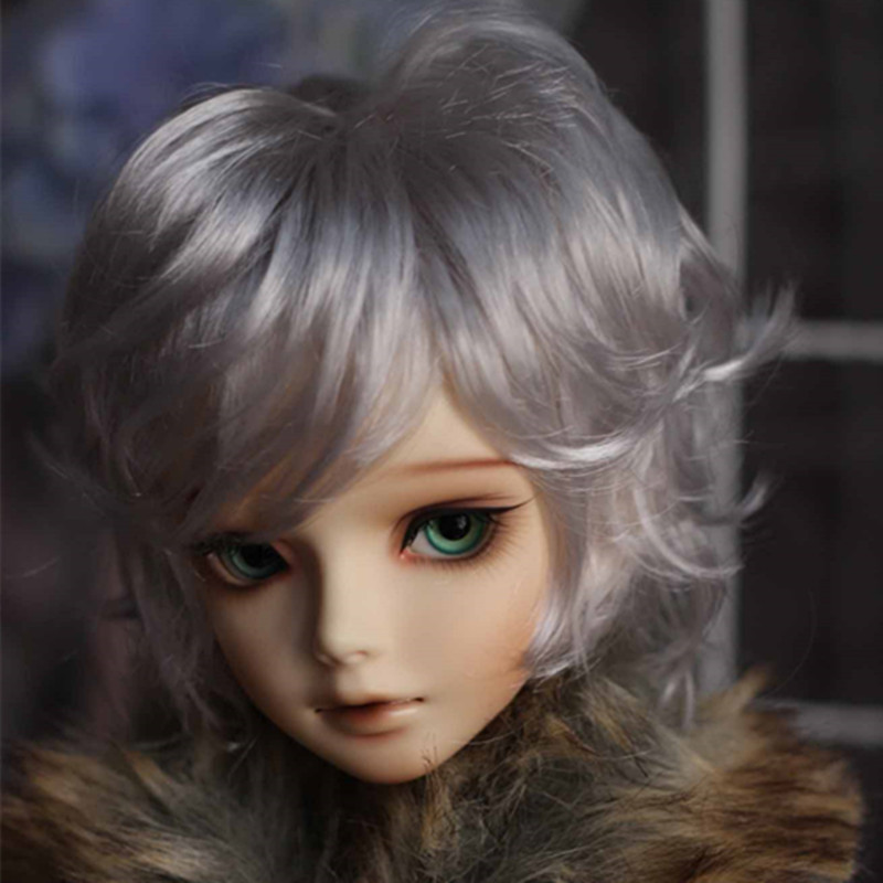 Uncle 1/3 1/4 bjd wig silver Knights of England volume mohair wig- spot