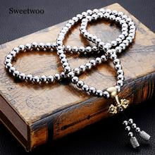 Outdoor Tactical Buddha Beads Bracelet EDC Tools Self-Defense Protection Survival Necklace Chain Whip Dropshipping