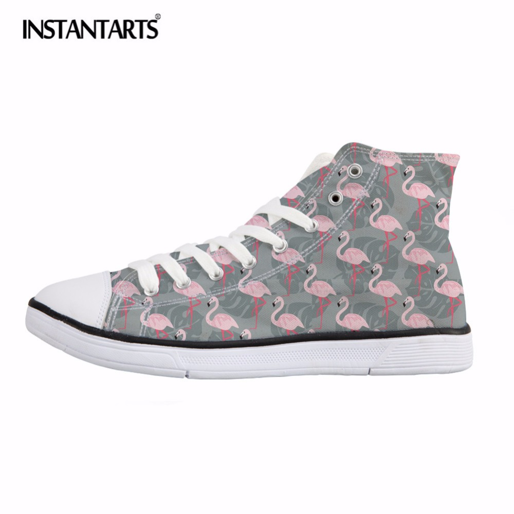 2a7629b71da4bc INSTANTARTS-Fancy-Flamingos-Print -High-Top-Canvas-Shoes-for-Women-Breathable-Vulcanize-Shoes-Female-High-Top.jpg