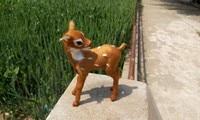 Simulation Lovely Deer Polyethylene Furs Mini Deer Toy About 9 5cmx5cmx12cm
