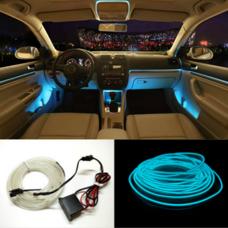 Universal Car 3 m Auto 12 V LED Strip Verlichting Flexibele Neon EL Draad Indoor universele Interieur Strip LED Auto Licht Strip