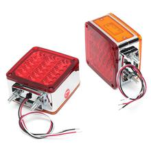 1 Pair LED Car Side Marker Lights Stop Turning Signal Lamp Taillight for 12V Truck Trailer Lorry  Red Yellow