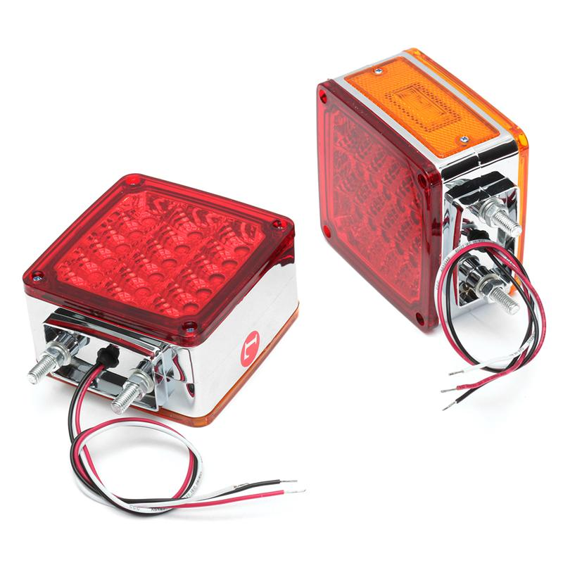 1 Pcs LED Car Side Marker Light Turning Signal Lamp Taillight for Truck Trailer Lorry Caravan 12V Red Yellow citall 10pcs car trailer truck boat lorry van 2 led amber clearance lamp side marker signal light for ford audi a4 vw kia mazda