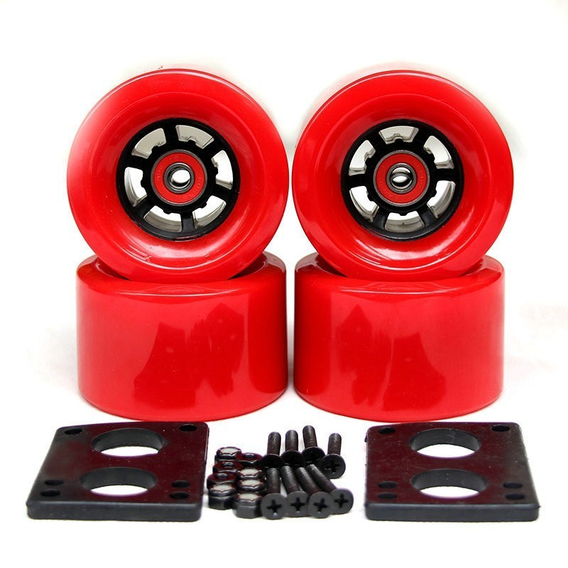 2019 New Longboard Wheels Electric Skateboard Wheels 78A 90*52mm ABEC-9 Bearings Bushings Hardware Gasket Skateboard Parts