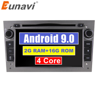 Eunavi 2 Din Android 9.0 2G RAM 2DIN CAR DVD PLAYER RADIO GPS NAVI TOUCH SCREEN For Opel Astra H G J Vectra Antara Zafira Corsa