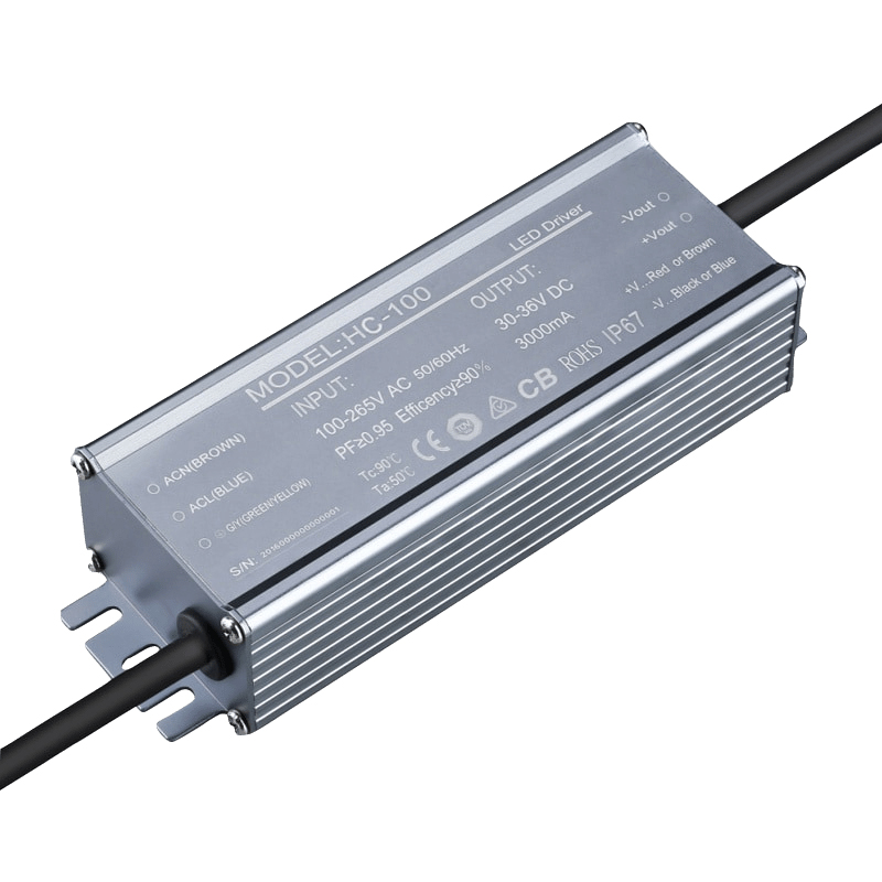 100W 120W 150W 200W 240W 300W Super Power IP65 0-10V 1-10V Dimming Flicker-Free LED Driver Constant Current Output