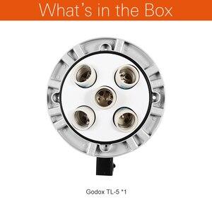 Image 2 - Godox Photo Studio TL 5 5in1 E27 gniazdo Tricolor światła żarówki głowica reflektora wielu uchwyt do kamery oświetlenie stock