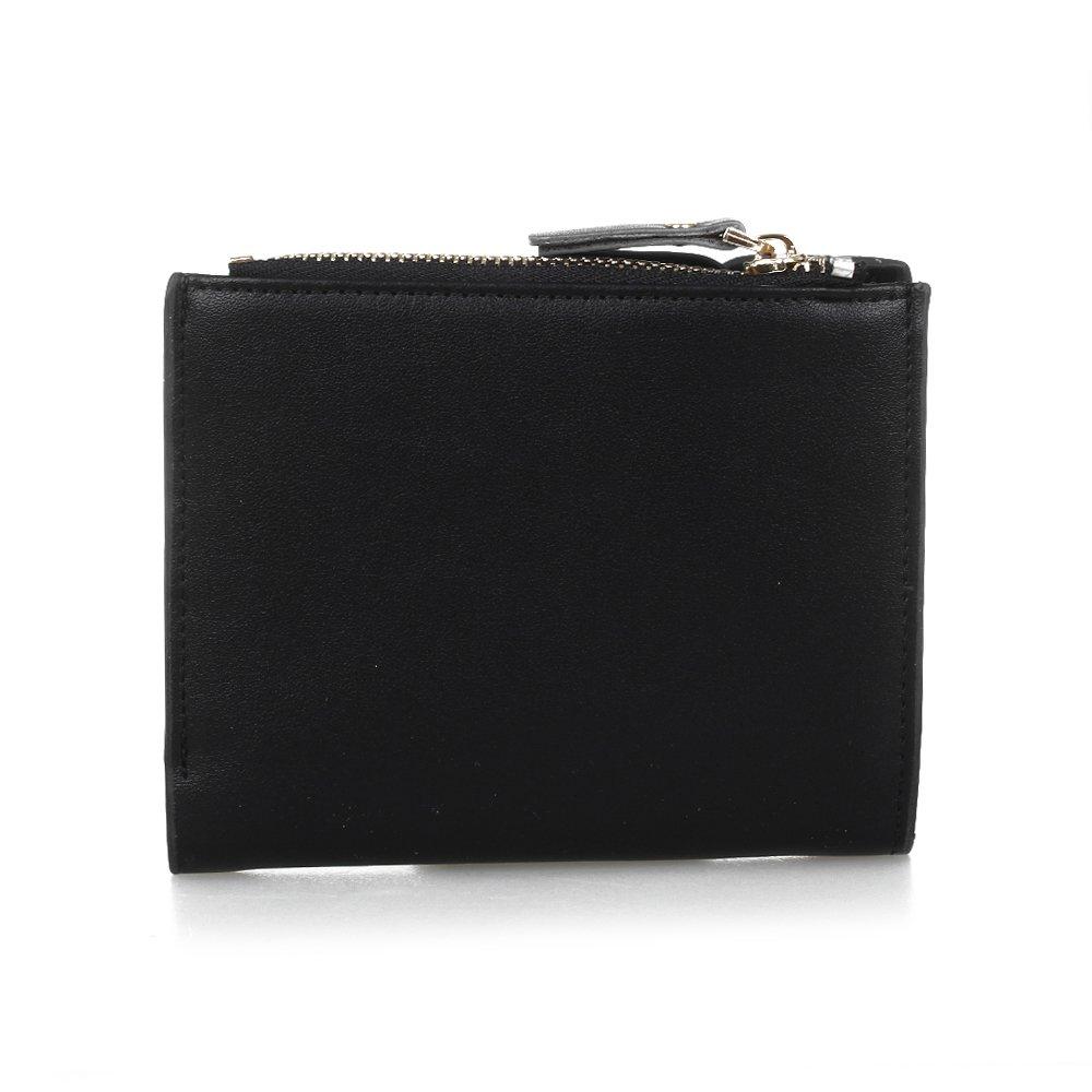 Men's Wallets Leather Bifold Wallet Card Holder Coin Purse Pockets Zipper Wallets black Classic Men faux leather Wallet 247 classic leather