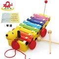 Los Niños de madera del Instrumento Musical Del Bebé Juguetes 8 Escalas Pequeñas Que Golpea El Piano Xilófono Arrastre Los Juguetes Para Niños Aprendizaje Y Educación